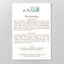 Visit San Francisco---Letterpress Details Card
