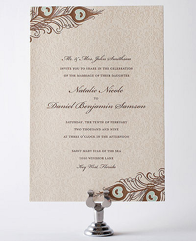 Antoinette Letterpress Wedding Invitation
