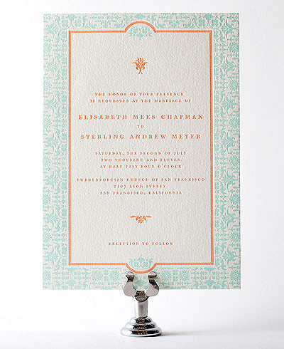 Architecture Letterpress Wedding Invitation