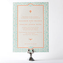 Architecture: Letterpress Wedding Invitation