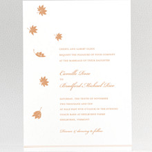 Autumn Leaves: Wedding Invitation