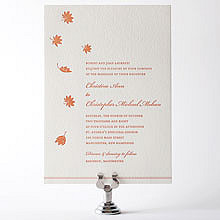 Autumn Leaves---Letterpress Wedding Invitation