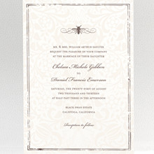 Belle Epoque---Wedding Invitation