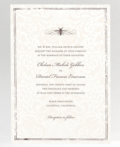 Belle Epoque Wedding Invitation