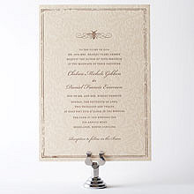 Belle Epoque: Letterpress Wedding Invitation