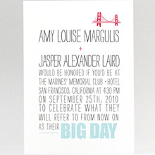 Big Day: Wedding Invitation