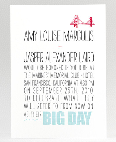 Big Day Wedding Invitation