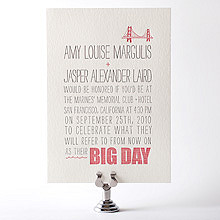 Big Day---Letterpress Wedding Invitation