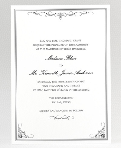 Biltmore Wedding Invitation