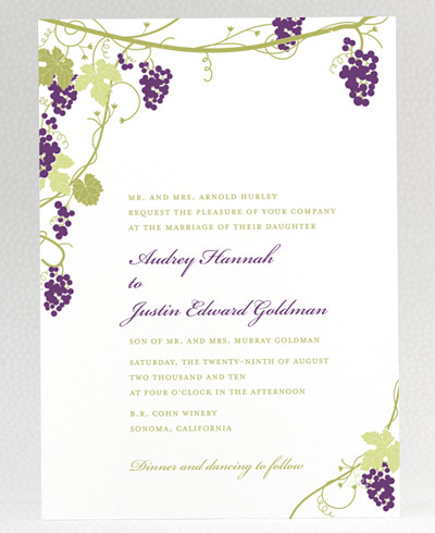 Bordeaux Wedding Invitation