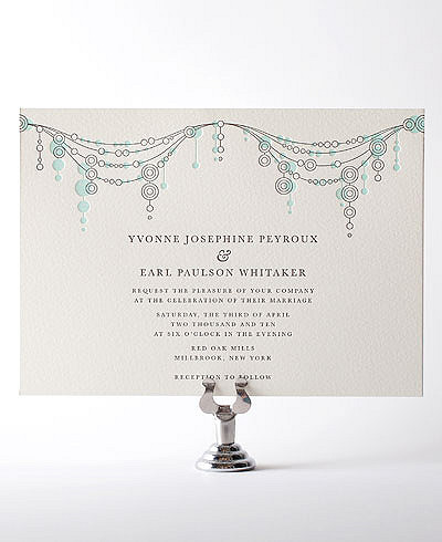 Chandelier Letterpress Wedding Invitation