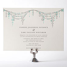 Chandelier: Letterpress Wedding Invitation