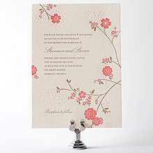 Cherry Blossom---Letterpress Wedding Invitation