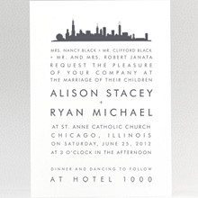 Chicago Skyline---Wedding Invitation