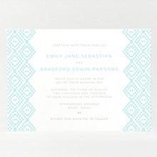 Cross Stitch---Letterpress Wedding Invitation
