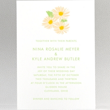Daisy: Letterpress Wedding Invitation