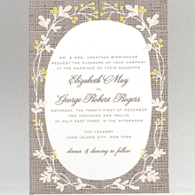 Darling Bud---Letterpress Wedding Invitation