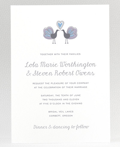 Daydream Letterpress Wedding Invitation