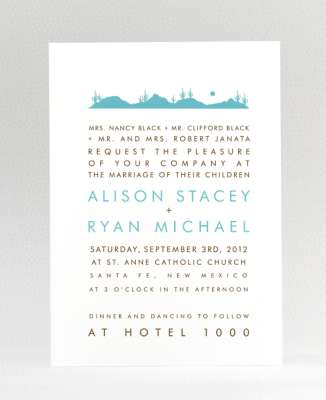 Wonderful Western Wedding Invitations