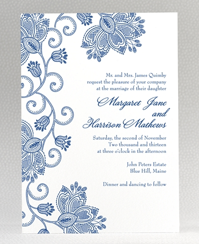 Duchesse Letterpress Wedding Invitation