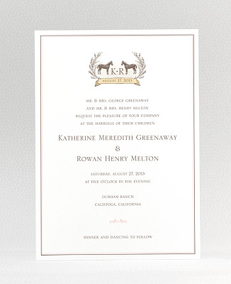 Elegant Equestrian Wedding Invitation