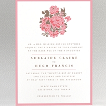 English Rose: Wedding Invitation