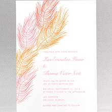 Feathers: Letterpress Wedding Invitation