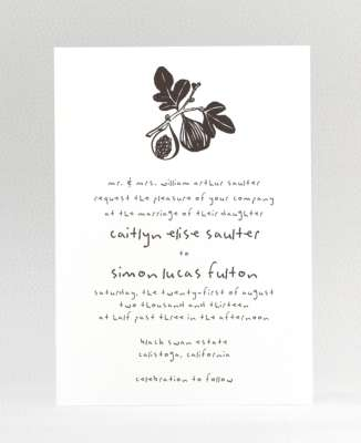 Figs: Wedding Invitation