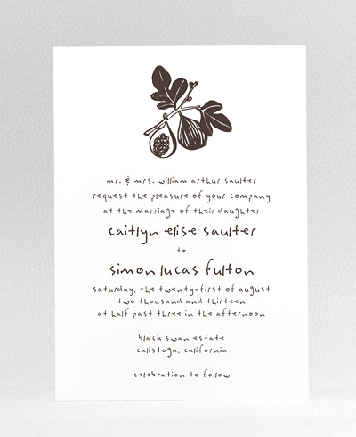 Figs Wedding Invitation
