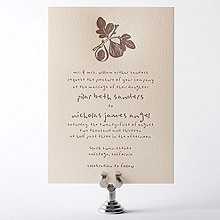Figs: Letterpress Wedding Invitation