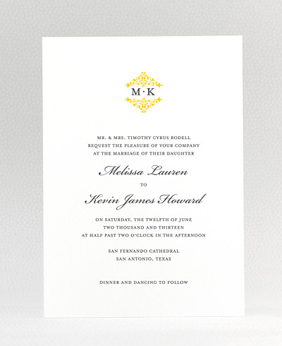 Fillmore Wedding Invitation