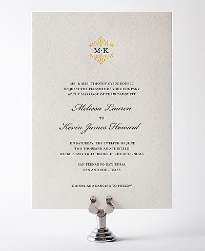 Fillmore Letterpress Wedding Invitation
