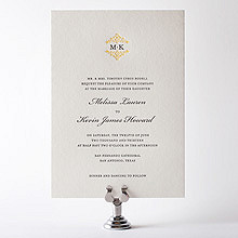 Fillmore: Letterpress Wedding Invitation
