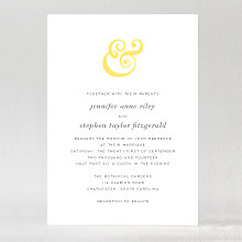 Ampersand - Wedding Invitation