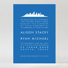 Austin Skyline: Wedding Invitation