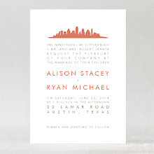 Austin Skyline - Wedding Invitation