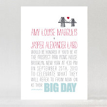 Big Day Brooklyn---Letterpress Wedding Invitation