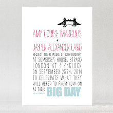 Big Day London - Letterpress Wedding Invitation