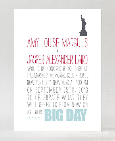 Big Day New York Letterpress Wedding Invitation