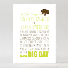 Big Day Oak: Letterpress Wedding Invitation