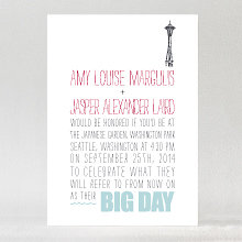 Big Day Seattle - Letterpress Wedding Invitation
