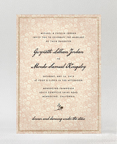 Bluegrass Wedding Invitation