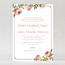 Classic Rose: Wedding Invitation