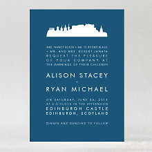 Edinburgh Skyline: Wedding Invitation