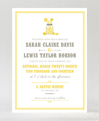 Lemonade Stand Wedding Invitation