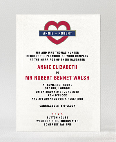 Love London Wedding Invitation