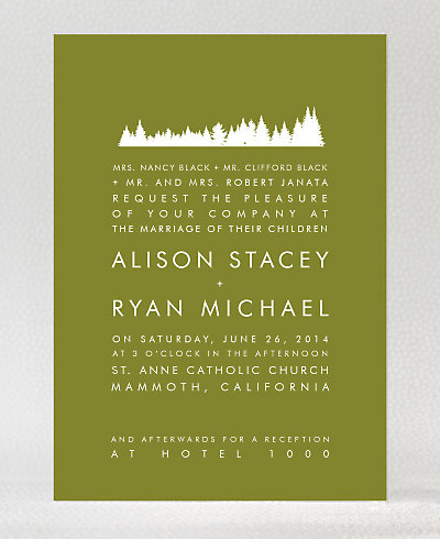 Mountain Skyline Wedding Invitation