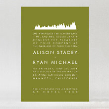 Mountain Skyline: Wedding Invitation