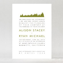 Mountain Skyline---Wedding Invitation
