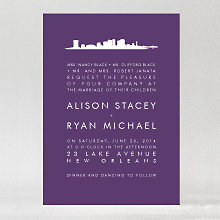 New Orleans Skyline: Wedding Invitation